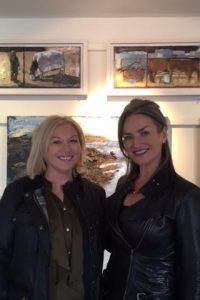 Liz O'Donnell and Greenlane Gallery owner Susan Callery, in Dingle, at the exhibition of paintings by artist Christine Thery