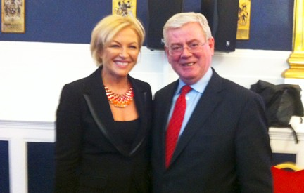 Liz O'Donnell addressed a forum on Reconciliation with Minister for Foreign Affairs Eamon Gilmore at Dublin Castle