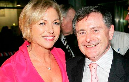 Liz O'Donnell and Brendan Howlin at the Obama election party