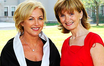 Liz O'Donnell with Adi Roche