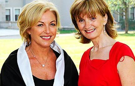 Liz O'Donnell with Adi Roche