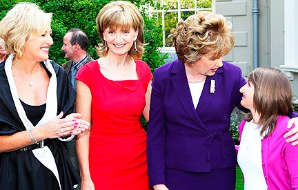 Liz O'Donnell with President McAleese, Raisa Carolan and Adi Roche at 25th anniversay of Chernobyl disaster at Farmleigh 2011