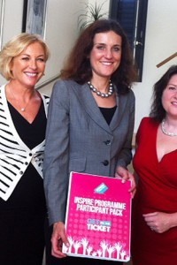 Liz O'Donnell with Theresa Villiers MP and Michelle O'Donnell of Women for Election seminar Sept 2013