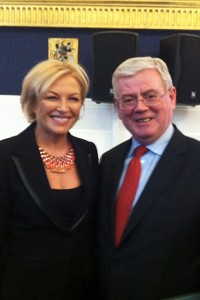 Liz O'Donnell with Eamon Gilmore