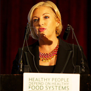 Liz O'Donnell • Moderating the Gorta Conference to mark UN World Food Day 2013
