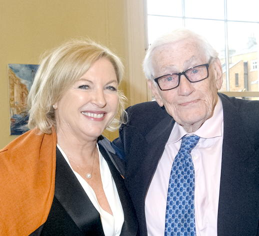 Liz with Seamus Mallon