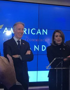 RICHIE Neale And NANCY Pelosi speaker of US Congress