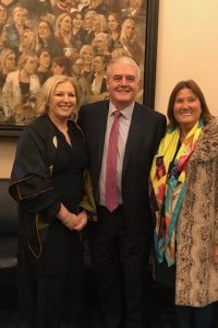 Liz & former Senators John Minihan & Cathy Honan celebrating centenary of the first Dail